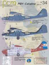 FCM Decals 1/144 CONSOLIDATED PBY CATALINA Brazil & Argentina