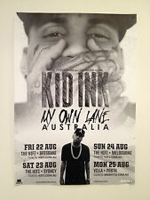 KID INK 2014 Australian Tour Poster A2 My Own Lane Almost Home Up & Away **NEW**
