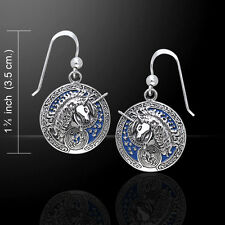 Celtic Unicorn .925 Sterling Silver Earrings by Peter Stone