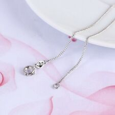 """9ct 9K White Gold Filled Ladies Men Box Link NECKLACE CHAIN. L 18"""" Gift"""