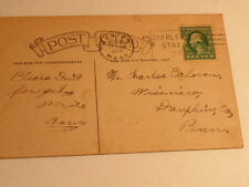 Vintage 1921 Postcard mailed from Boston to Wiconisco, PA