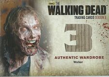 Walking Dead Card Season 3 Part 2 Walker #W7 Wardrobe Short Print