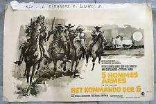 Affiche Belge CINQ HOMMES ARMES Peter Graves BUD SPENCER Western DON TAYLOR