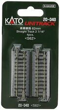 "Kato 20-040 62mm (2 7/16"") Straight Track S62 N scale New Japan"