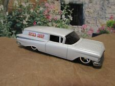 HOT WHEELS CUSTOM 59 CHEVY DELIVERY WAGON, PEARL WHITE, SPEED SHOP, CHROME RIMS