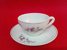 Antigua Taza de cafe/te y platito de porcelana Jager Años 70 Vintage clasico.