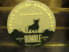GREAT DIVIDE BREWING NEW ~ RUMBLE Oak Aged IPA Bull Beer Tacker Advertising Sign