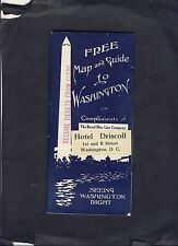 """ROYAL BLUE MOTOR LINES """"Map and Guide"""" to Washington DC  1928"""