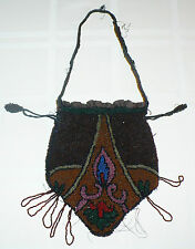 ANTIQUE 1930's BEAUTIFULLY BEADED PURSE RETICULE BAG * 8 COLORS *  ART DECO