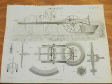 1824 Antique Print/AGRICULTURE///SMITH REAPING MACHINE