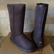 UGG Classic Tall Essential Chocolate Suede/Sheepskin Womens US 7 Womens Boots