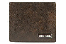 Diesel Mens Genuine Leather Card Holder Wallet Johnas I X03345 P0598 T2185 Brown