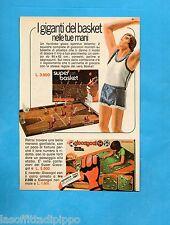 TOP975-PUBBLICITA'/ADVERTISING-1975- ATLANTIC - I GIGANTI DEL BASKET+GIOCAGOAL