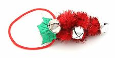 Zest Christmas Holly Berry Pony Tail Hair Band with Bells Red