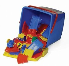 Viking Toys 45510 strassenset nel secchio Autobahn auto strada strada gioco 95 pezzi
