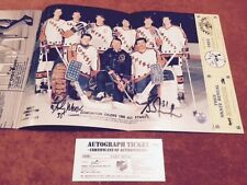 1985 Grant Fuhr Andy Moog Dual Awesome Autographed Signed Goalie AS COA Poster