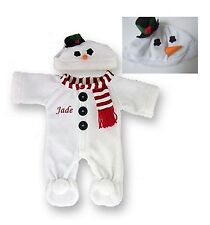 "Teddy Bear Clothes Fit 15"" Build a Bear Snowman Teddy Outfit Personalised Frozen"