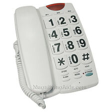 Giant Button Speaker Phone with Flashing Ringer for Low Vision Easy to See