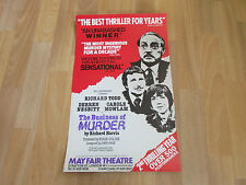 THE BUSINESS OF MURDER by Richard Harris MAYFAIR Theatre Poster
