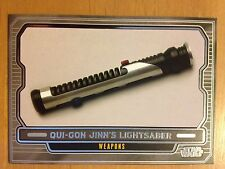 2013 Star Wars Galactic Files 2 #590 Qui-Gon Jinn's Lightsaber Duel Mint