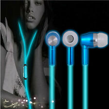 Glow In The Dark Earphones Luminous Night Light Glowing Headset In-Ear With Mic