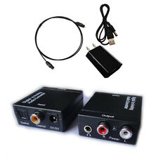 Digital Optic Coaxial RCA Toslink Signal to Analog Audio Converter Adapter cable