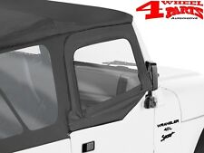 Aufsteckfenster Hüllen original Verdeck Black Denim Jeep Wrangler TJ Bj. 97-02