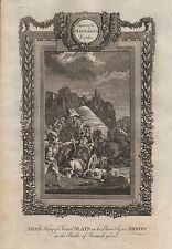 1790 Ca-ANTIQUE PRINT-MAYNARD'S JOSEPHUS-AHAB KING OF ISRAEL, SLAIN IN HIS CHARI