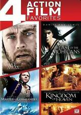 LOT OF 4 action dvds CASTAWAY Last of Mohicans MASTER COMMANDER Kingdom Heaven