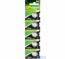 5 x GP CR2016 3V Lithium Button Battery Coin Cell DL2016 EXPIRY 2026