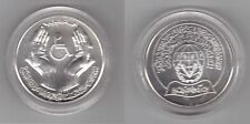 LIBYA - RARE SILVER UNC 5 DINAR COIN 1981 YEAR KM#24 INTR YEAR DISABLED PERSONS