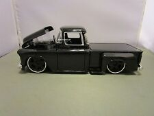 JADA 1/24 DUB CITY OLDSKOOL BLACK 1955 CHEVY STEPSIDE PICK UP TRUCK USED NO BOX