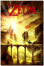 The Legend of Zelda 25th Anniversary Ocarina of Time Game Silk Poster 20x30inch