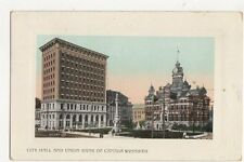 City Hall & Union Bank of Canada Winnigeg 1909  Vintage Postcard 194a