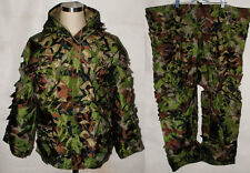 CAMOUFLAGE GHILLIE SUIT JACKET TUNIC AND TROUSERS PANTS WOODLANDS CAMO -32226