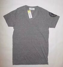 NWT SOULCYCLE BOSS V NECK TEE TOP WITH WHEEL GRAY YOGA SPIN PILATES WORKOUT sz S