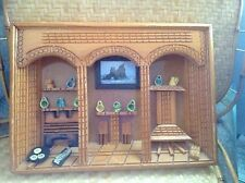 Vintage Folk Art Hand Crafted Wood Wall Diorama Kitchen Picture Art  primitive