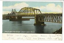 Vintage Postcard New London Connecticut Draw Bridge Undivided Back 1905 UDB
