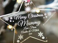 Acrylic  Personalised Christmas Tree Decoration Bauble For your Mummy