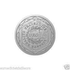 """Pièce 15 euros  FRANCE 2008 """"La Semeuse en Marche"""" en argent 900/1000 - Neuve"""