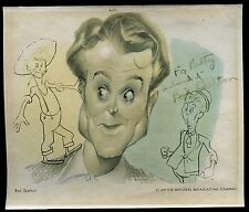 VINTAGE 1947 NBC Sam Berman Caricature RED SKELTON SIGNED 6x7 Autograph RARE!