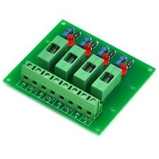 4 Channel Fuse Board, with Fuse Fail Indicator, for DC 5~48V.