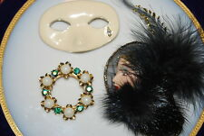 WONDERFUL VINTAGE SET OF THREE ASSORTED PINS OR BROOCHES AS PER PICTURES # M-026