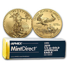 2016 1/2 oz Gold American Eagle (40-Coin MintDirect® Tube) - SKU #93090