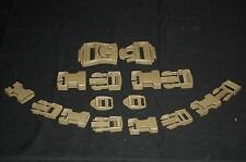 New Coyote 16 Piece Buckle Replacement Set ILB Molle Repair Kit Tan Brown Desert