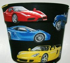 SPORTS CARS  THEMED PLANTER FLOWERPOT PARTY GIFT BASKET SUPPLY CONTAINER