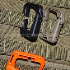 2 X MOLLE Locking D-ring Carabiner Hook Clip Tactical Grimloc Safety Safe Buckle