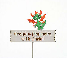 Personalised Dragon Sign ~ Customised Miniature Sign ~ Handmade by Jennifer