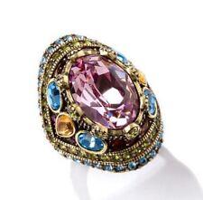 Heidi Daus Pink Shirli Stunning Ring Size 8