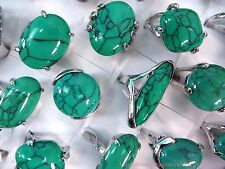 US SELLER |10pc wholesale retro vintage fashion ring turquoise ring jewelry lot